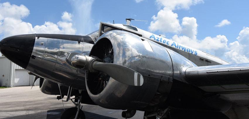 Beech-18-Cargo-Plane-Aztec-Airways